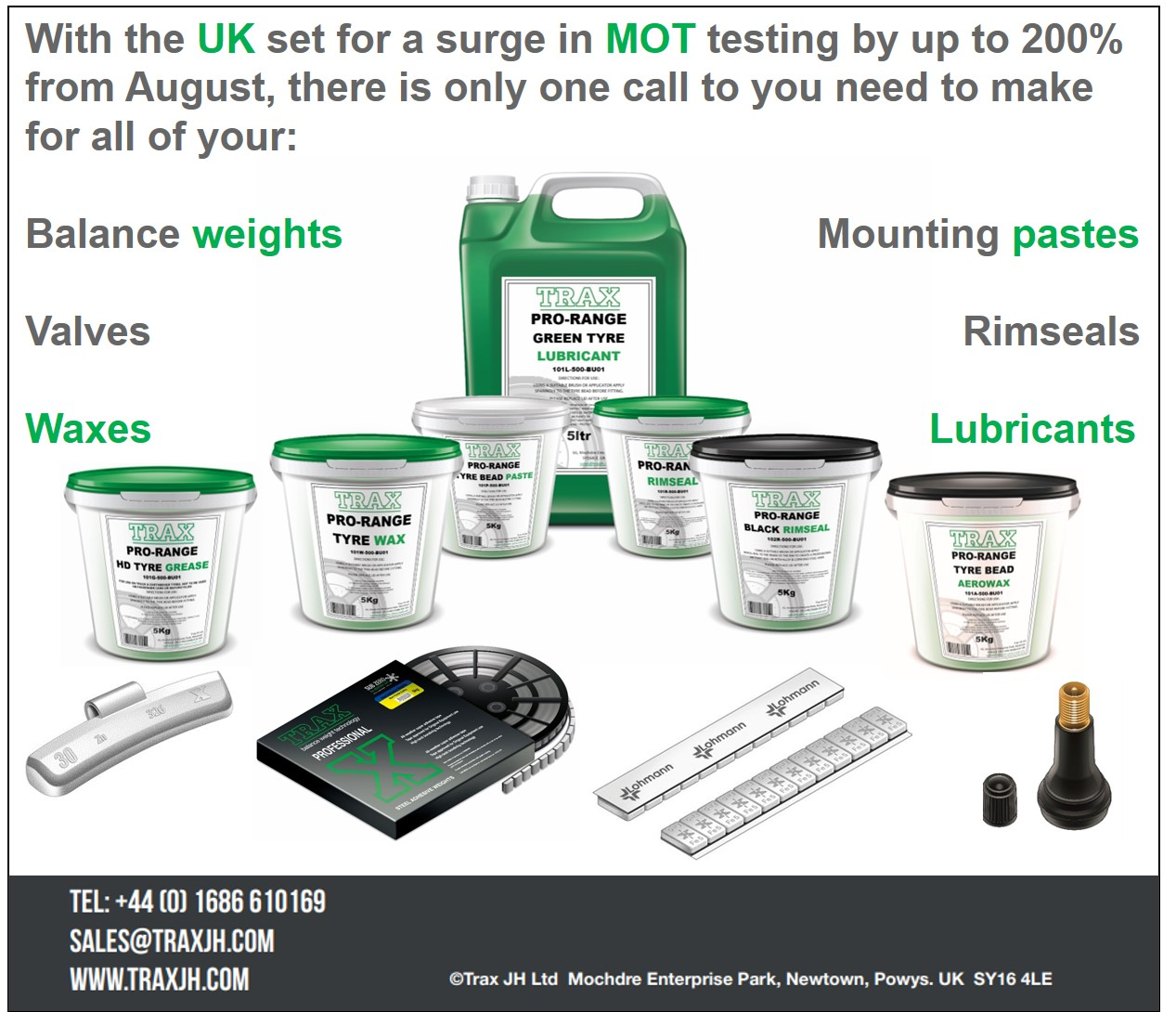 Trax MOT products