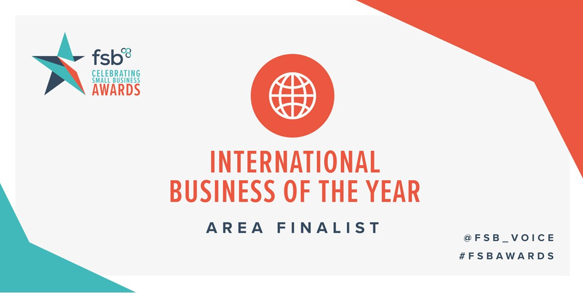 FSB International Business of the year 2020 finalist.
