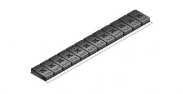 605B Universal 60g 12x5g – Plastic coated BLACK