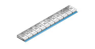 Produkte Stahl-Klebegewichte Standard Riegel