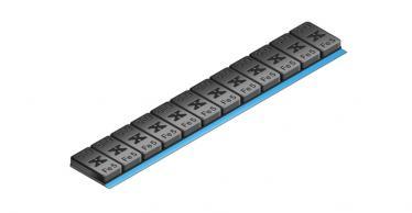 605B Universal Klebe-Riegel – 60g 12x5g, schwarz kunststoff-beschichtet