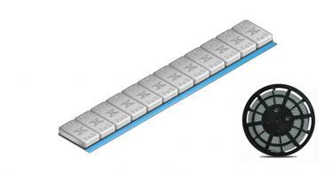 605C-SP Standard Klebegewichtsrolle 5 kg, grau kunststoffbeschichtet