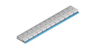 605C Universal Klebe-Riegel – 60g 12x5g, grau kunststoff-beschichtet
