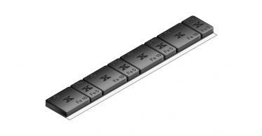 610B Universal 60g 4x5g & 4x10g – Plastic coated BLACK