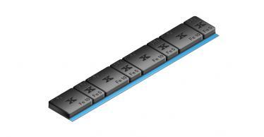 610B Universal Klebe-Riegel – 60g, schwarz kunststoff-beschichtet