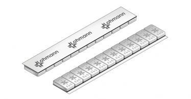 614C Universal Professional Klebe-Riegel – 60g, 12x5g Grau kunststoffbeschichtet