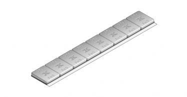 620C Extra slimline 40g 2.8mm high 8x5g – Plastic coated GREY