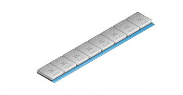 620C Extra Slimline 40 g Klebe-Riegel 2,8mm hoch – 8x5g, grau kunststoff-beschichtet